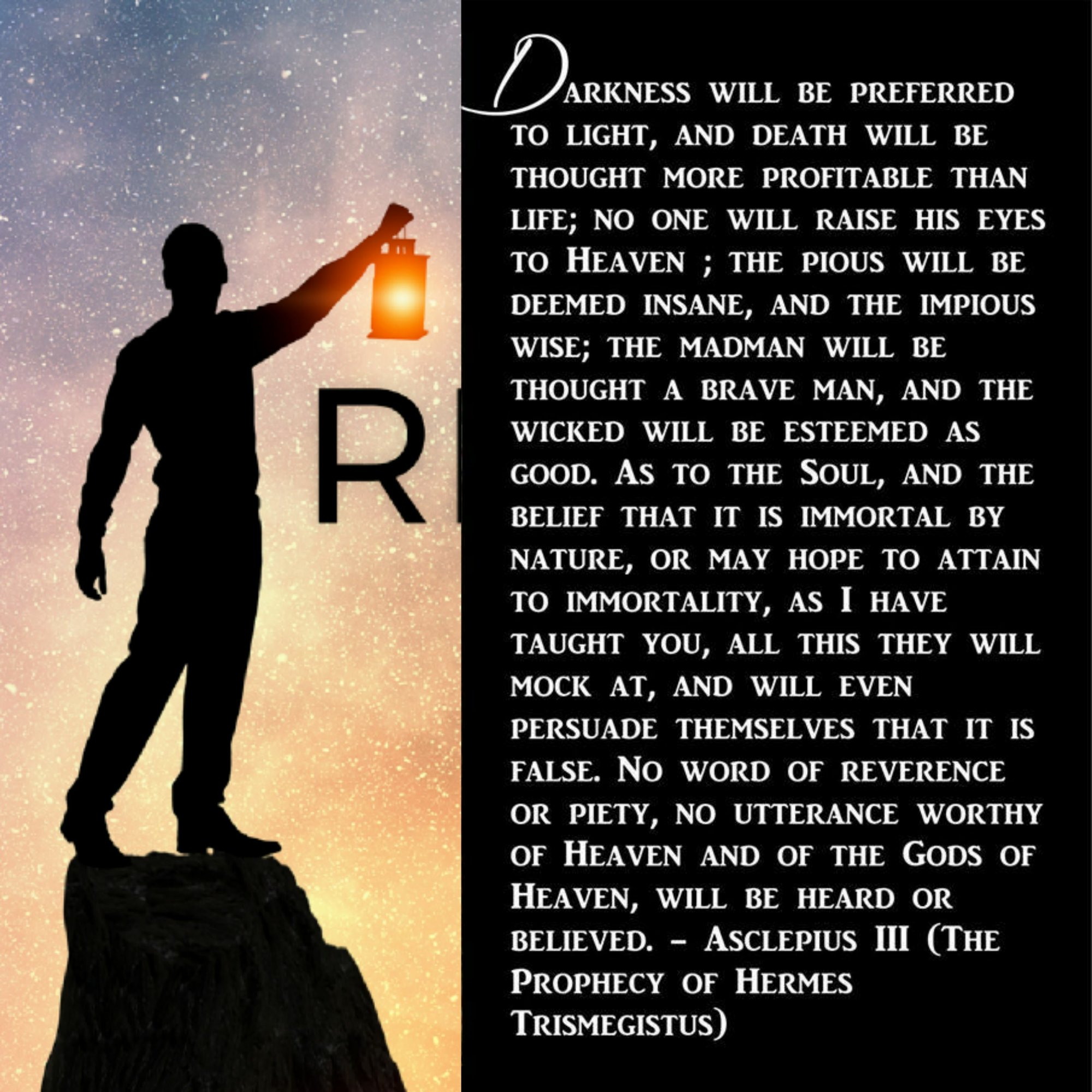 Prophecy of Hermes - mankind will descend into darkness + Abandon Ancient Spiritual Teachings for New Age Deceptions False